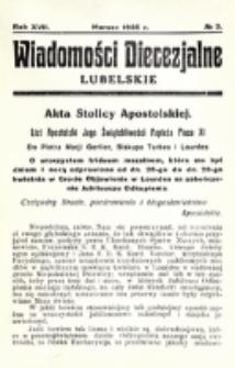 Wiadomości Diecezjalne Lubelskie. R. 17, nr 3 (1935)