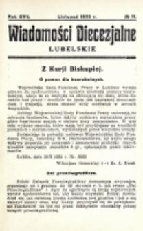 Wiadomości Diecezjalne Lubelskie. R. 17, nr 11 (1935)