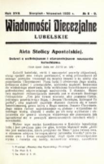 Wiadomości Diecezjalne Lubelskie. R. 17, nr 8/9 (1935)
