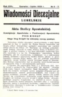 Wiadomości Diecezjalne Lubelskie. R. 17, nr 6/7 (1935)