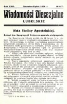 Wiadomości Diecezjalne Lubelskie. R. 18, nr 6/7 (1936)