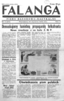 Falanga : pismo narodowe. R. 3, nr 3=83 (25 stycznia 1938)