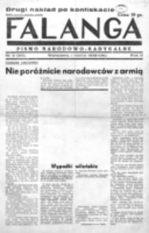 Falanga : pismo narodowe. R. 3, nr 9=89 (1 marca 1938)