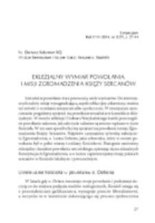 Eklezjalny wymiar powołania i misji Zgromadzenia Księży Sercanów.