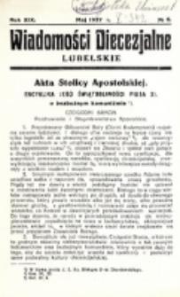 Wiadomości Diecezjalne Lubelskie. R. 19, nr 5 (1937)
