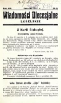 Wiadomości Diecezjalne Lubelskie. R. 19, nr 4 (1937)