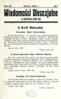 Wiadomości Diecezjalne Lubelskie. R. 20, nr 3 (1938)