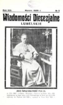 Wiadomości Diecezjalne Lubelskie. R. 21, nr 3 (1939)