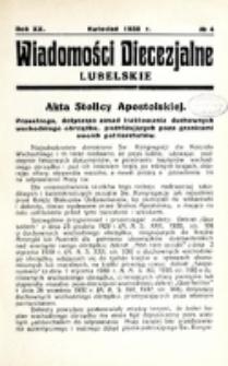 Wiadomości Diecezjalne Lubelskie. R. 20, nr 4 (1938)