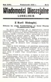 Wiadomości Diecezjalne Lubelskie. R. 18, nr 9 (1936)