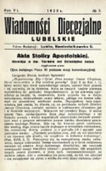 Wiadomości Diecezjalne Lubelskie. R. 7, nr 7 (1925)