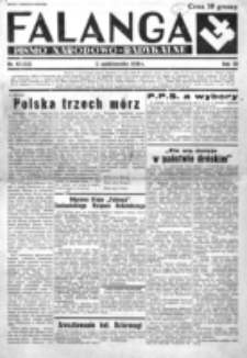 Falanga : pismo narodowe. R. 3, nr 42=122 (11 października 1938)