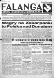 Falanga : pismo narodowe. R. 3, nr 46=126 (1 listopada 1938)