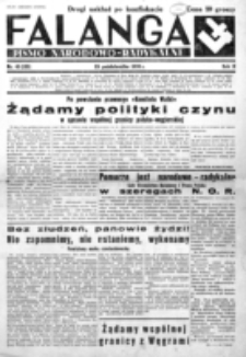 Falanga : pismo narodowe. R. 3, nr 45=125 (25 października 1938)