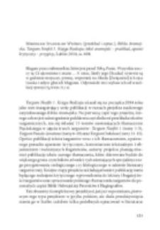 Mirosław Stanisław Wróbel (przekład i oprac.), Biblia Aramejska. Targum Neofiti 1. Księga Rodzaju: tekst aramejski – przekład, aparat krytyczny – przypisy, Lublin 2014, ss. 604.