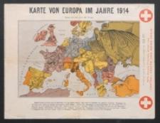 Karte von Europa im Jahre 1914; Karte von Europa im Jahre 1870 nach franzözischen Holzschnitte: Neudruck 1914