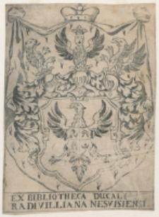 Ex Bibliotheca [...] Radivillana Nesvisiensi