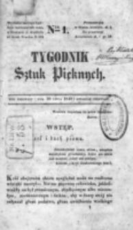 Tygodnik Sztuk Pięknych. nr 1 (1840)