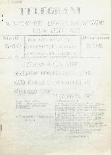 KUL-ier : Zeszyt Niezależnego Zrzeszenia Studentów. Nr 5 (dodatek nadzwyczajny 10 Czerwca 1981)