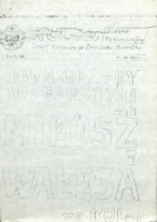KUL-ier : Zeszyt Niezależnego Zrzeszenia Studentów. Dodatek nadzwyczajny (12 czerwca 1981)
