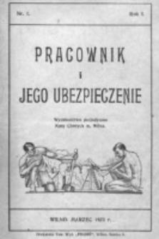 Pracownik i Jego Ubezpieczenie : wydawnictwo perjodyczne Kasy Chorych m. Wilna. R. 1, nr 1 (1923)