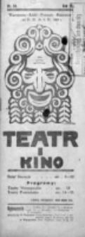 Teatr i Kino. R. 4, nr 14 (od 31 marca do 6 kwietnia 1924)