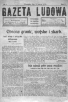 Gazeta Ludowa : wychodzi na każdą niedzielę. R. 5, nr 11 (1919)