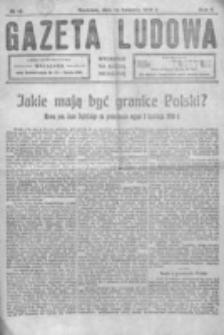 Gazeta Ludowa : wychodzi na każdą niedzielę. R. 5, nr 15 (1919)
