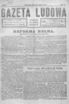 Gazeta Ludowa : wychodzi na każdą niedzielę. R. 5, nr 21 (1919)