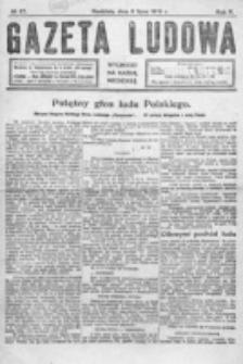 Gazeta Ludowa : wychodzi na każdą niedzielę. R. 5, nr 27 (1919)