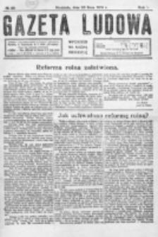 Gazeta Ludowa : wychodzi na każdą niedzielę. R. 5, nr 29 (1919)
