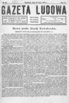 Gazeta Ludowa : wychodzi na każdą niedzielę. R. 5, nr 30 (1919)