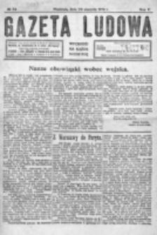 Gazeta Ludowa : wychodzi na każdą niedzielę. R. 5, nr 34 (1919)