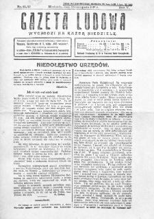 Gazeta Ludowa : wychodzi na każdą niedzielę. R. 5, nr 44/45 (1919)