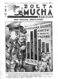 Żółta Mucha Tse-Tse. R. 5, nr 8 (19 lutego 1933)
