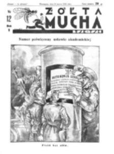 Żółta Mucha Tse-Tse. R. 5, nr 12 (19 marca 1933)