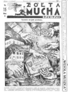 Żółta Mucha Tse-Tse. R. 5, nr 15 (9 kwietnia 1933)