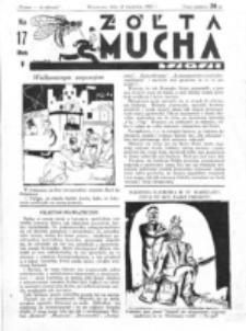 Żółta Mucha Tse-Tse. R. 5, nr 17 (23 kwietnia 1933)