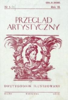 Przegląd Artystyczny. R. 3, nr 1 (1927)