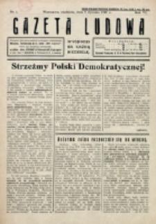 Gazeta Ludowa : wychodzi na każdą niedzielę. R. 6, nr 1 (1920)