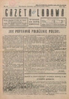 Gazeta Ludowa : wychodzi na każdą niedzielę. R. 6, nr 3 (1920)