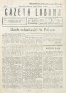 Gazeta Ludowa : wychodzi na każdą niedzielę. R. 6, nr 9 (1920)