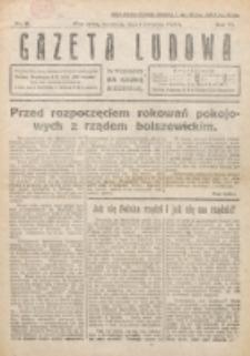 Gazeta Ludowa : wychodzi na każdą niedzielę. R. 6, nr 14 (1920)