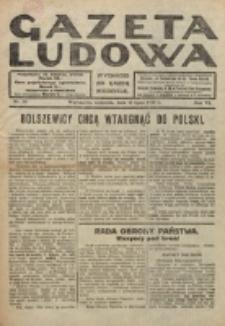 Gazeta Ludowa : wychodzi na każdą niedzielę. R. 6, nr 29 (1920)