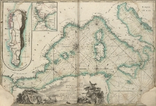 Carte Reduite De La Partie Occidentale De La Mer Mediterranée