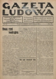 Gazeta Ludowa : wychodzi na każdą niedzielę. R. 6, nr 31 (1920)