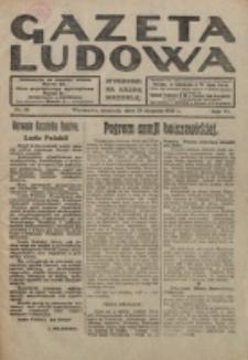 Gazeta Ludowa : wychodzi na każdą niedzielę. R. 6, nr 35 (1920)