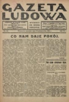 Gazeta Ludowa : wychodzi na każdą niedzielę. R. 6, nr 43 (1920)