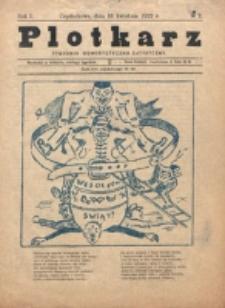 Plotkarz : tygodnik humorystyczno-satyryczny. R. 1, nr 2 (1922)