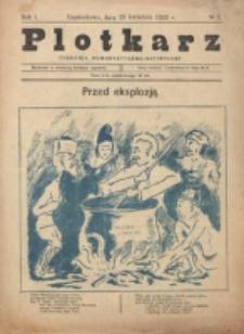 Plotkarz : tygodnik humorystyczno-satyryczny. R. 1, nr 3 (23 Kwietnia1922)